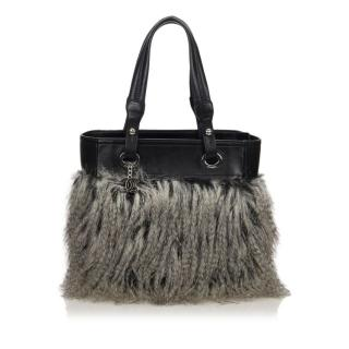 Chanel Faux  Fur Fantasy Tote Bag