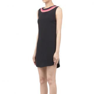 Sandro chain detailed black crepe mini dress