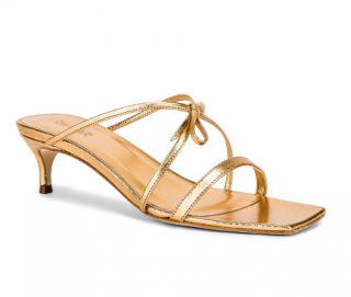 BY FAR January Sandals in Gold Leather