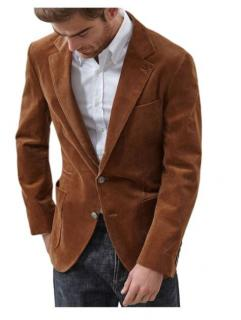 Brunello Cucinelli Tan Corduroy Tailored Jacket