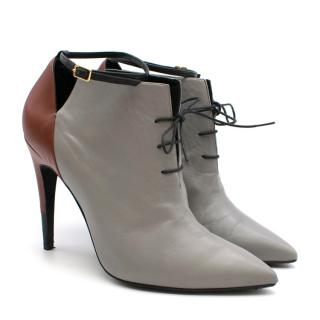 Pierre Hardy Colour Block Leather Pointed Ankle Boots