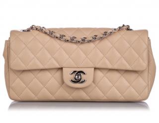 Chanel East West Classic Single Flap Bag