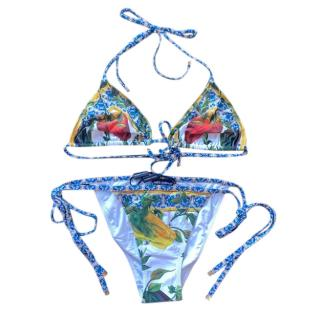 Dolce & Gabbana Peppers Print String Bikini
