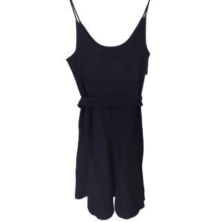 Louis Vuitton Black Sleeveless Fitted Spiral Dress