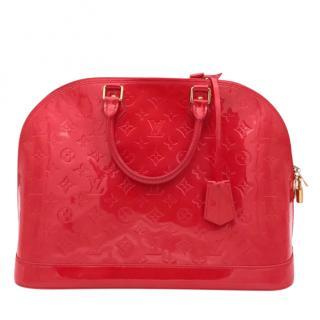 Louis Vuitton Pomme D'Amour Vernis Alma Tote Bag