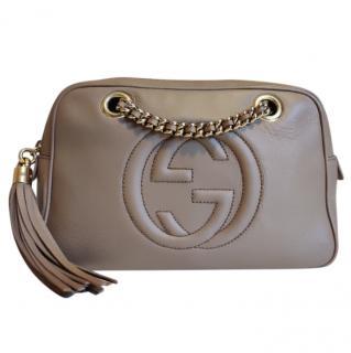 Gucci Beige Soho Leather Disco Bag