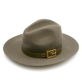 Gucci Green Felt Panama Hat
