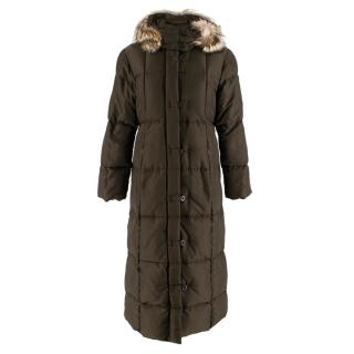 Weekend Max Mara Brown Longline Puffer Coat