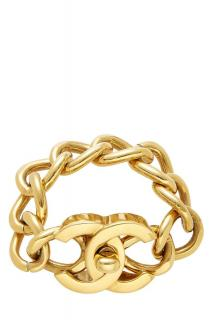 Chanel Gold Tone CC Turnlock Bracelet