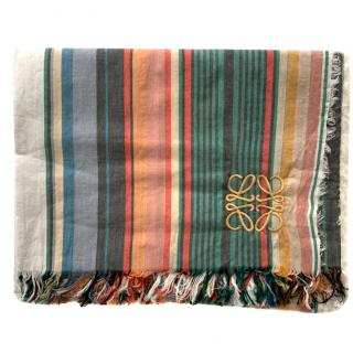 Loewe Multi-Colour Striped Large Shawl