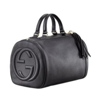 Gucci Soho Medium Boston Bag in Black