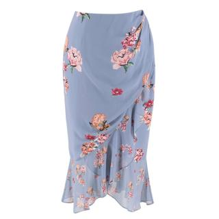 Keepsake Blue Floral Ruffle Skirt