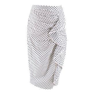 Majorelle White Polka Dot Allie Skirt