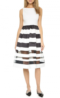 Alice + Olivia Larue Striped Midi Dress