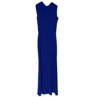 Victoria Beckham Blue Sleeveless Gown