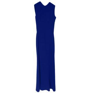 Victoria Beckham Blue Sleeveless Gown