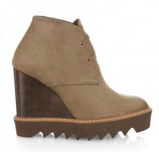 Stella McCartney Leana lace-up faux-suede wedge boots