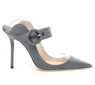 Jimmy Choo Grey Hendrix 100 Mules