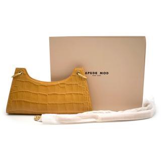 Apede Mod Lemon Croc Froggy Shoulder Bag with Chain