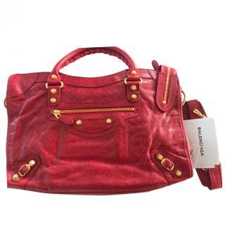 Balenciaga Red Medium City Bag
