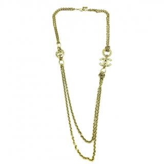Chanel CC Medallion Chain Necklace