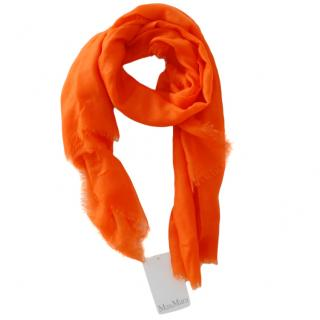 Max Mara Orange Cashmere Scarf