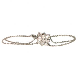 Bespoke French marquis and princess cut 1.6 ct diamond floral bracelet