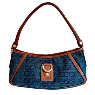 Gucci Blue/Brown GG Denim Bag Rare