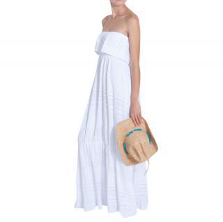 Melissa Odabash White Crochet Jersey Maxi Dress