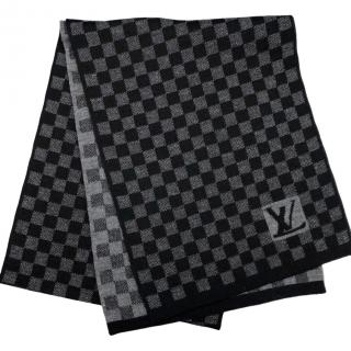 Louis Vuitton Wool Damier Graphite Scarf