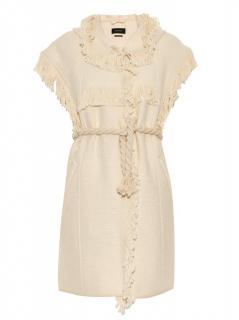 Isabel Marant Fringed Cotton Blend Sleeveless Hooded Jacket