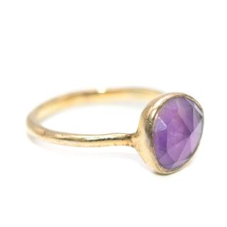 Monica Vinader Gold Plated Amethyst Siren Ring
