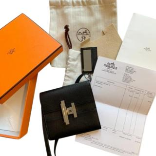Hermes Black Cinhetic Mini Wallet