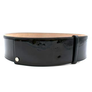 Jimmy Choo Patent Black Wide Belt