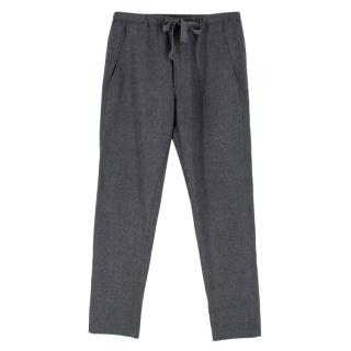 Isabel Marant Grey Wool DrawstringTrousers