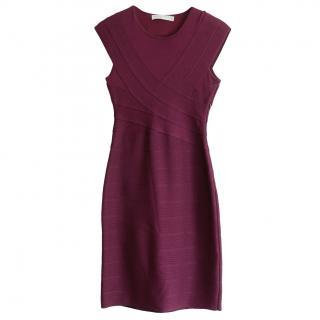 Christian Dior John Galliano damson bandage style dress