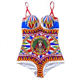 Dolce & Gabbana Sicily Caretto printed swimsuit