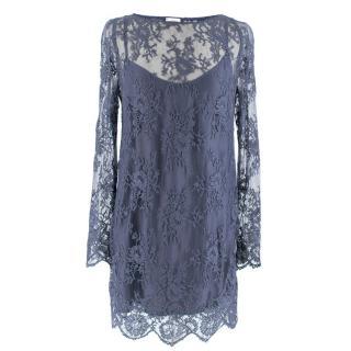 La Perla Blue Lace Dress with Slip Dress