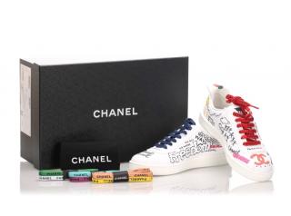 Chanel x Pharrell Canvas Graffiti Sneakers