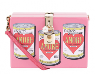 Dolce & Gabbana Pink Amore Soup Box Clutch