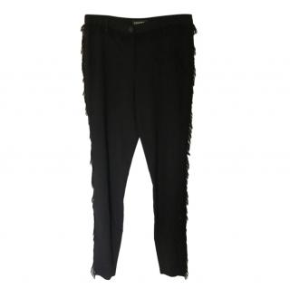 Chanel Black Fringed Vintage Pants