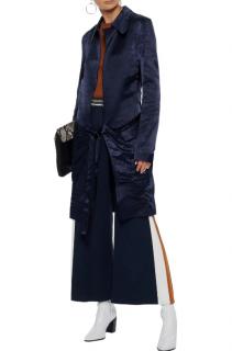 Victoria Beckham tie-front washed satin-crepe kimono