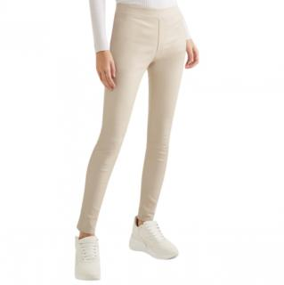 Helmut Lang Flax Leather Leggings