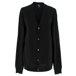 McQ by Alexander McQueen Black Cotton Blend Cardigan