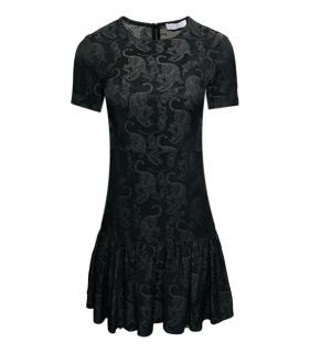 Sandro Tiger Print Black Mini Dress