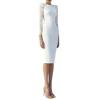 Alex Perry White Lace Detailed Dreyden Dress
