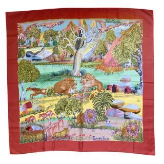 Hermes Nuba Mountain Silk Scarf 90