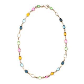 Argento Coloured Multi Gem Stone Silver Necklace