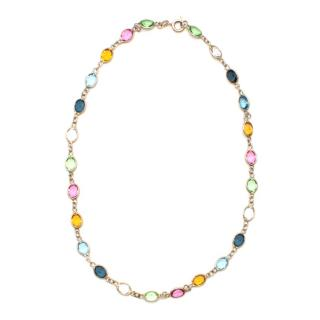 Argento Coloured Multi Gem Stone Silver Necklace
