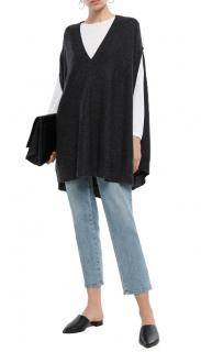Le Kasha Grey Fuji Cashmere Poncho